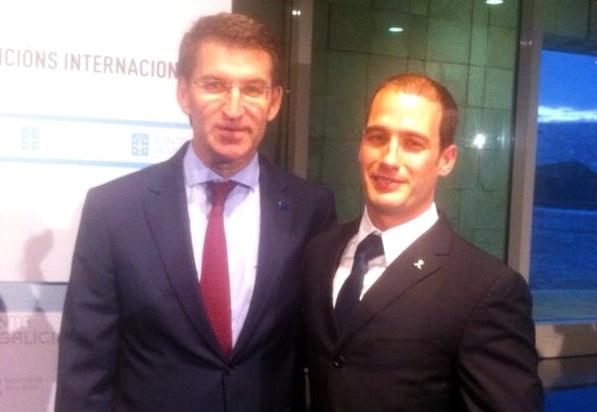 Felipe Iglesias, Gimnasio Marbel, recibido por el Presidente de la Xunta Galicia