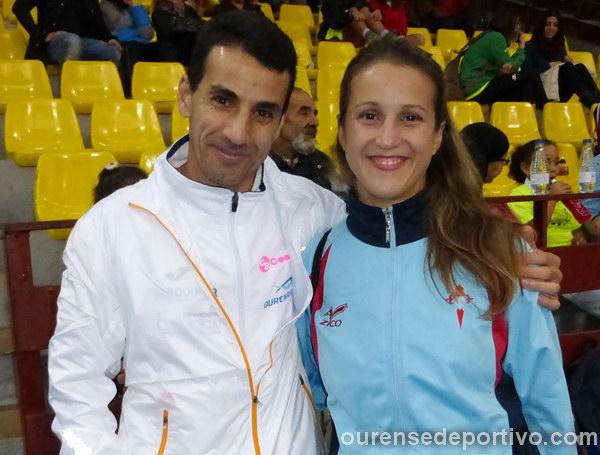 Hassan Lekili y Yolanda Gutierrez se impusieron en la clasificación de ourensanos (Foto: Ourense Deportivo)