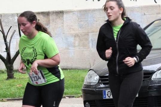 Laura de Matos (dorsal 234) afronta el último kilómetro de la San Martiño 2014 (Foto: Tito Picouto)