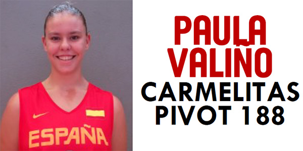 Paula Valiño seleccionada para la U16F de baloncesto