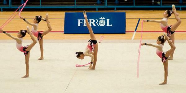 Actuación del Ximnasia Pavillón en el gallego de conjuntos