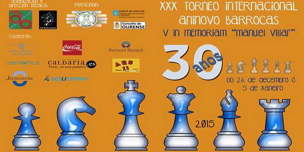 Completada la cuarta ronda del Torneo Internacional Aninovo Barrocás de Ajedrez