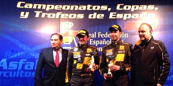 Luis Aragonés, con 3 victorias y 2 segundos, fantástico en el nacional de rallyes