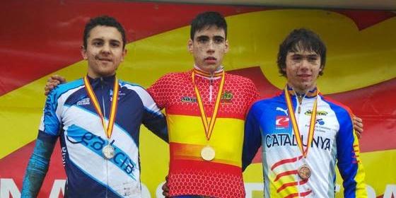 Iván Feijóo subcampión de España cadete de ciclocross