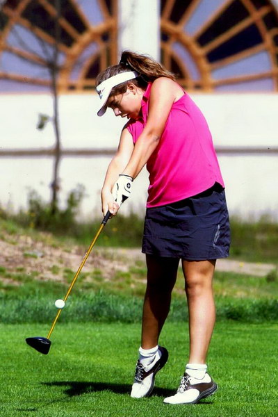 Judith Movilla, jugadora del Montealegre Club de Golf