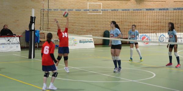 Resultados voleibol escolar, infantil y cadete