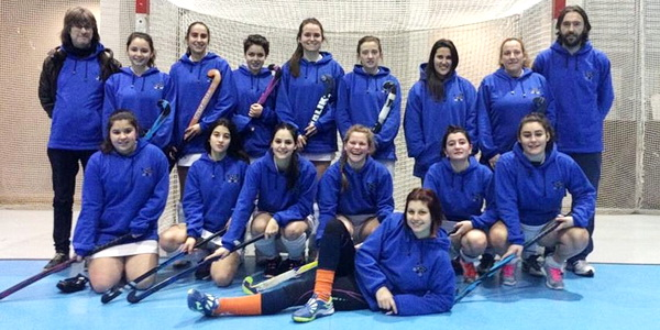 Hockey Albor ante su debut en un nacional de sala femenino