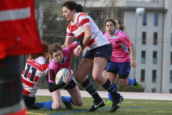 Ourense Rugby femenino cede sus primeros puntos ante Vigo R.C.