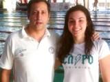 Laura Pimentel acompañada de Santi Escudero, su entrenador
