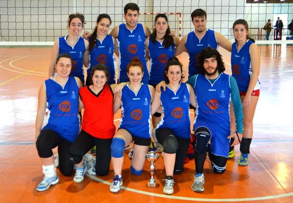 Equipo de voleibol del Campus de Ourense