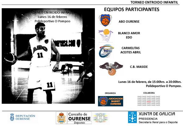 ABO Ourense organiza el Torneo Entroido Infantil de baloncesto