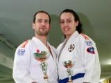 Felipe Iglesias y Tamara Silva luchadores del Gimnasio Marbel