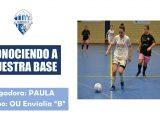 """Ourense C.F.: Paula (OU Envialia B): """"Llevarse bien influye en los resultados del equipo"""""""