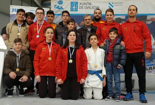 Representación de Marbel en la fase sur del Campeonato Gallego Infantil y Cadete