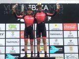 Pablo Rodríguez en el podium de la Vuelta a Ibiza MTB