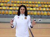 Vanesa Barberá con la Selección Española de Fútbol Sala