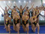 Meritoria actuación de Sincro Ourense en el Gallego BIV de Verano de Sincronizada