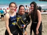 Victorias para Andrea Bello y Silvia Fernández en el cierre de la liga de Salvamento