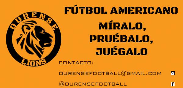 Ourense Lions nuevo proyecto de Fútbol Americano en Ourense