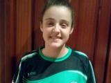 María González del Pabellón con Selección Gallega Infantil de Balonmano