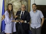 Zulema González, árbitra da 1ª División do fútbol feminino, recibida no Pazo Provincial