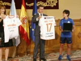 Presidente de la Xunta y Secretaria Xeral do Deporte reciben al Ourense Envialia