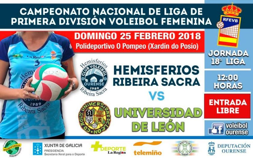 Volei: Hemisferios RB CVO - Ule @ Polideportivo O Pompeo | Ourense | Galicia | España