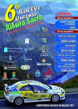 O Rallye Ourense-Ribeira Sacra celebrará a sexta edición con 148 inscritos