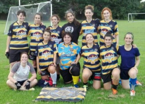 Xogadoras do Auriense no All Ireland 7's de Dublin