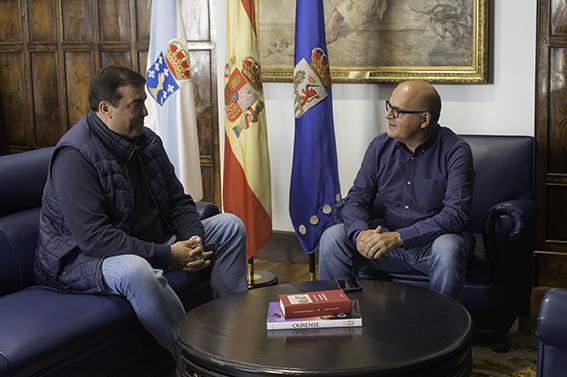 Manuel Baltar, Presidente Deputación de Ourense, e Camilo Álvarez, Presidente de Club Ourense Baloncesto COB