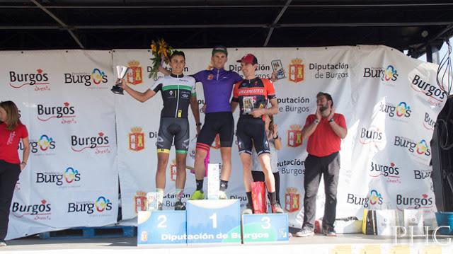 Podio para Iván Feijóo e Noela Saa no ciclocross en Burgos