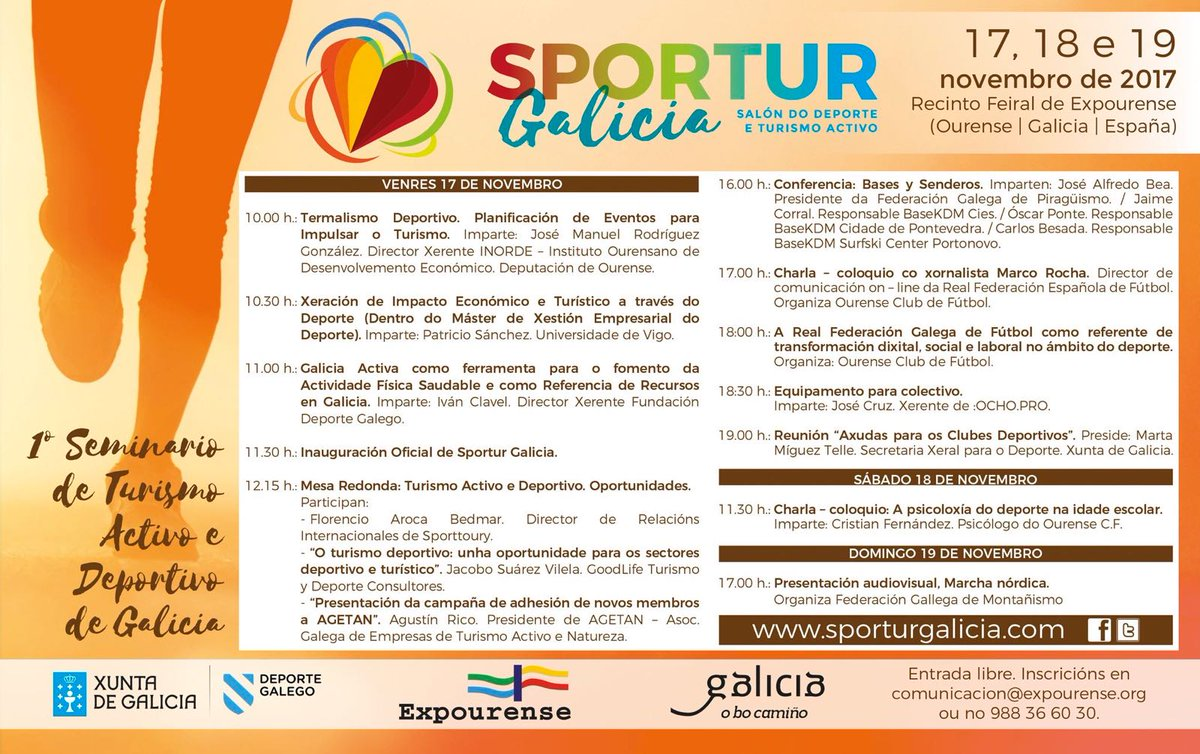 Sportur Galicia Programa actividades