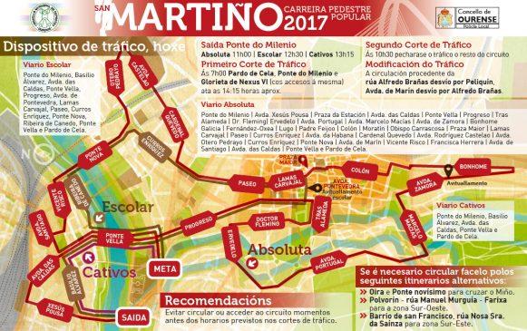 Informacións ós participantes da Carreira do San Martiño 2017