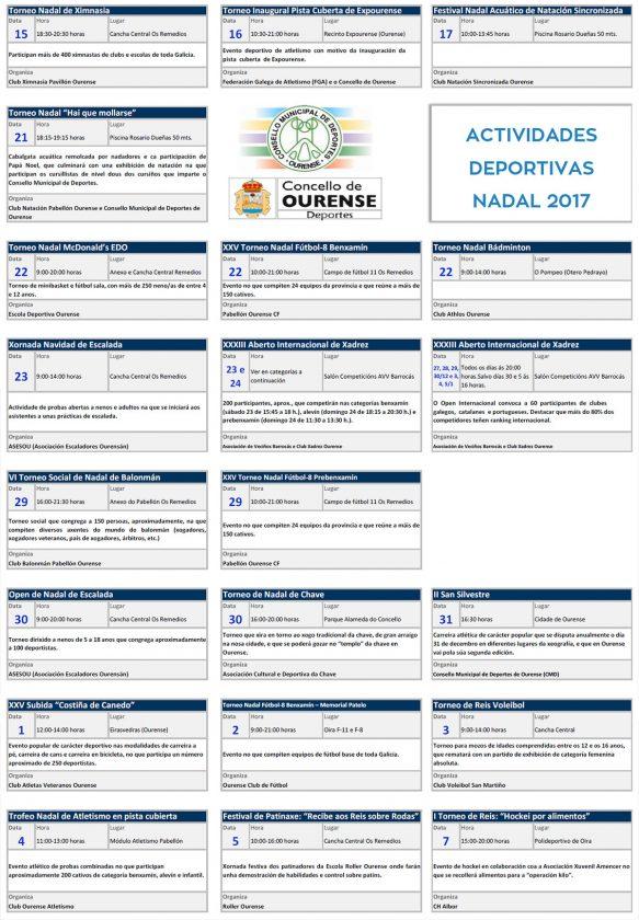 Programa Nadal Concello de Ourense 2017