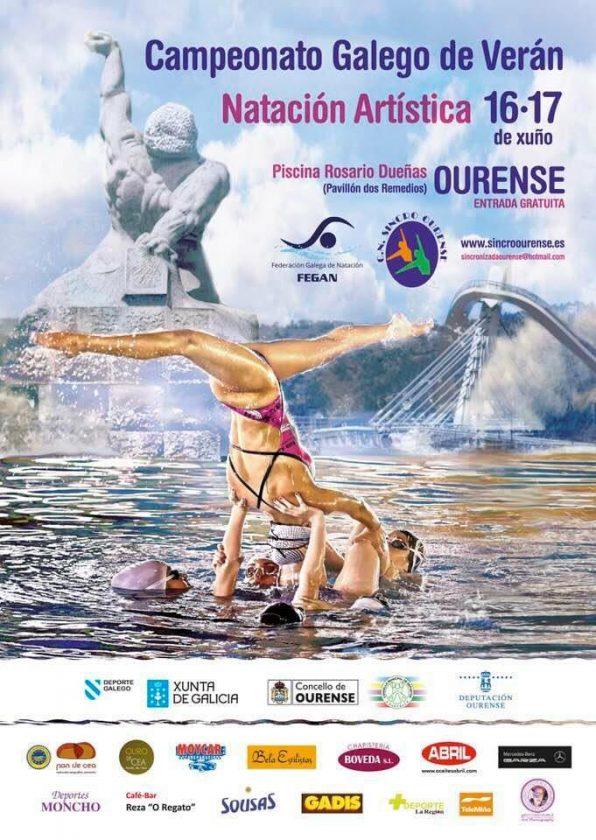Campeonato Galego de Verán de natación artística de Nivel @ Piscina Rosario Dueñas | Orense | Galicia | España