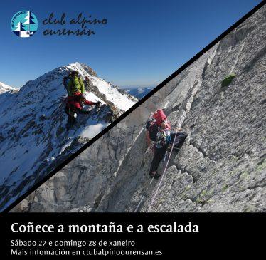 O Club Alpino Ourensán organiza unha xornada para coñecer a escalada e a montaña