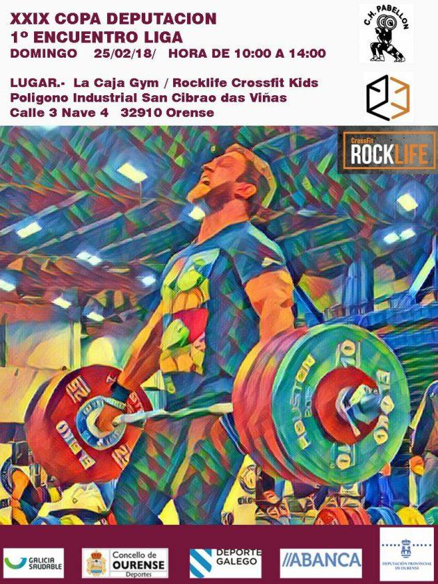 Halterofilia: Copa Deputación - 1º Encuentro Liga 2018 @ La Caja Gym / Rocklife Crossfit  | San Cibrao das Viñas | Galicia | España