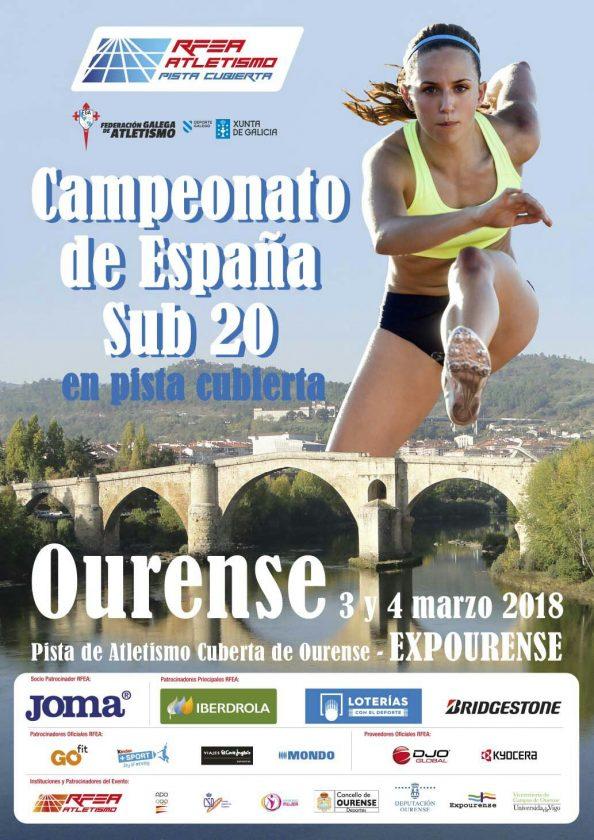 Cpto. España Sub20 Junior Pista Cubierta @ Pista Cubierta Expourense | Ourense | Región de Murcia | España