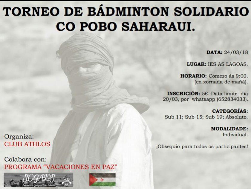 Badminton: Torneo Solidario con el Pueblo Saharaui @ IES As Lagoas | Orense | Galicia | España