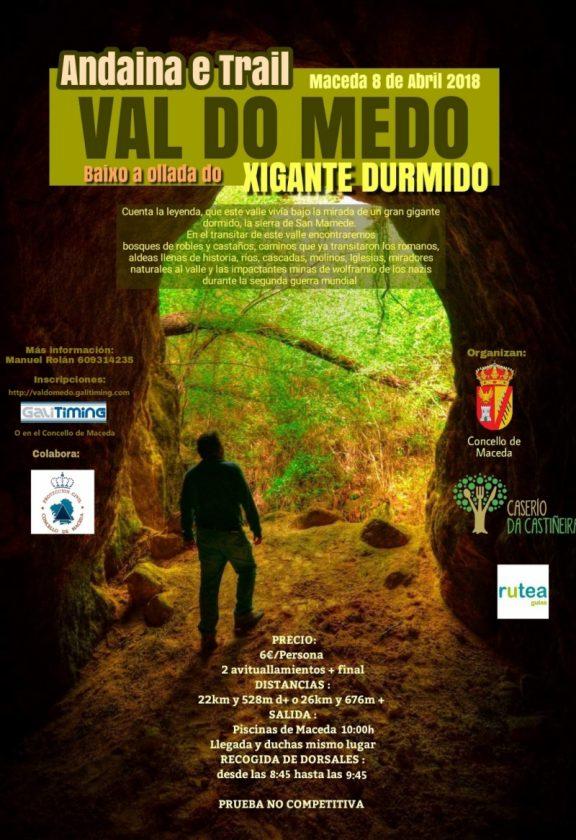 Andaina e Trail: Val do Medo, Baixo a Ollada do Xigante Durmido @ Piscinas de Maceda | Maceda | Galicia | España