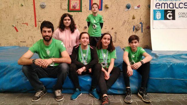 Los jóvenes escaladores de Asesou en la Copa Galega Base