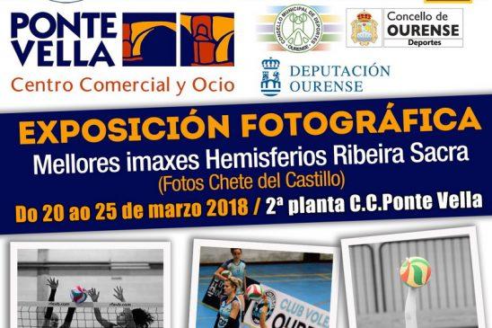Club Voleibol Ourense presenta una exposición fotográfica sobre su equipo senior