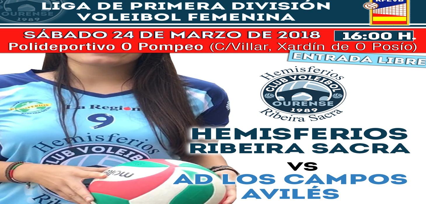 Volei: Hemisferios RB CVO - Fertiberia Los Campos @ Polideportivo O Pompeo | Ourense | Galicia | España
