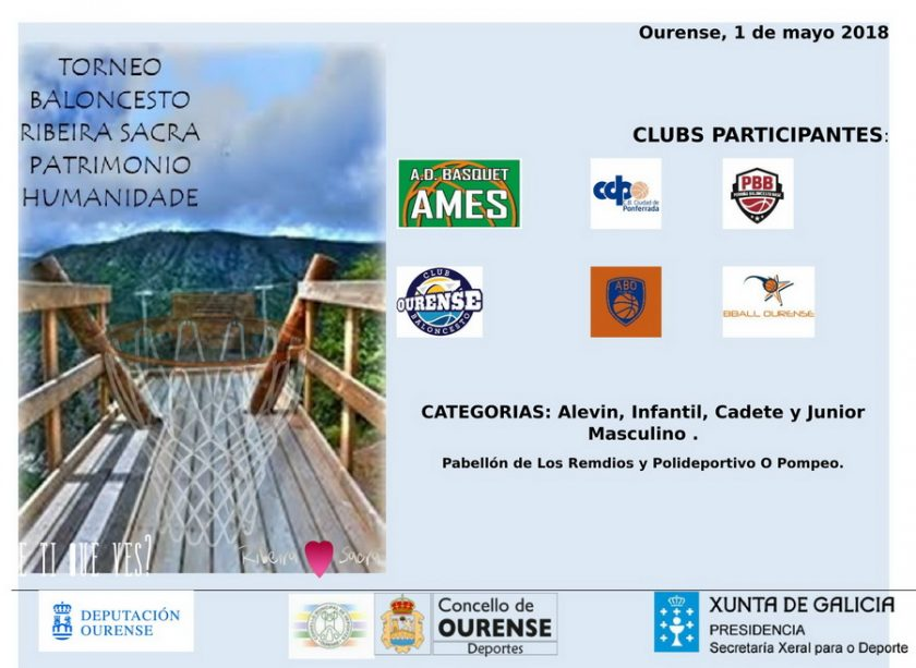 Basket: Torneo Ribeira Sacra Patrimonio de la Humanidad @ Pabellón dos Remedios - O Pompeo