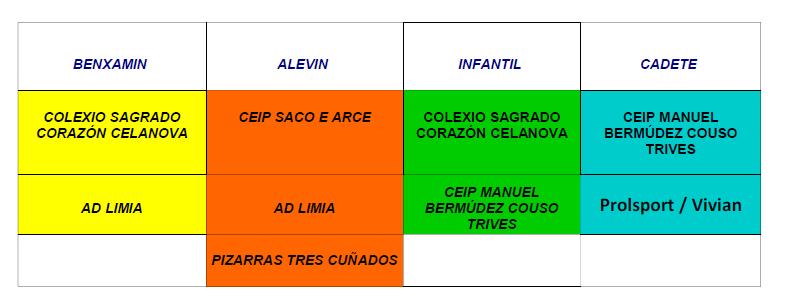 Provincial Escolar de fútbol sala Benjamín, Alevín, Infantil y Cadete @ Anexo