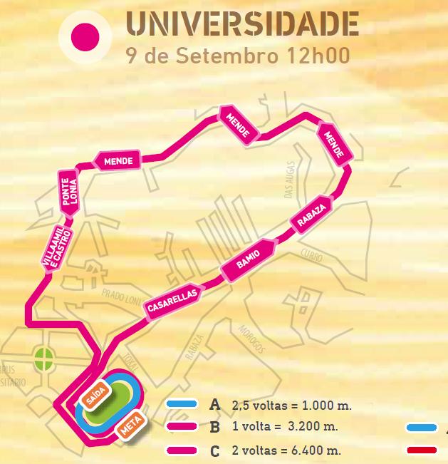 Recorrido Universidade Correndo por Ourense