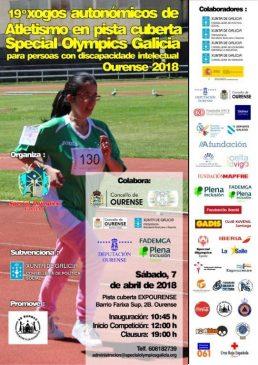Special Olympics: Xogos Atletismo en Pista Cuberta @ Pista Cuberta de Expourense | Ourense | Región de Murcia | España