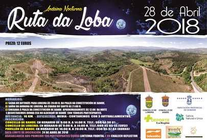 Andaina nocturna Ruta da Loba 2018 @ Bande | Bande | Galicia | España