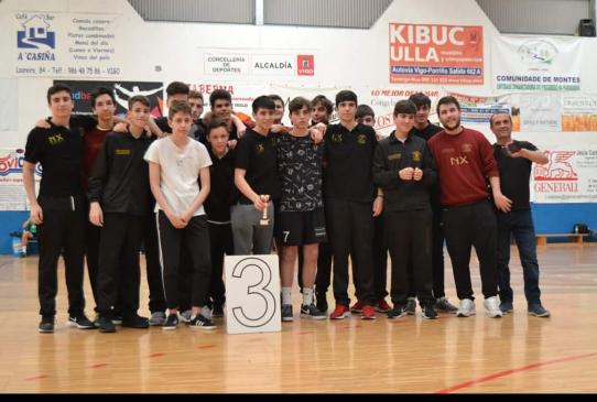 Tercer puesto en el sector gallego para los cadetes de Nova Xestion Pabellón