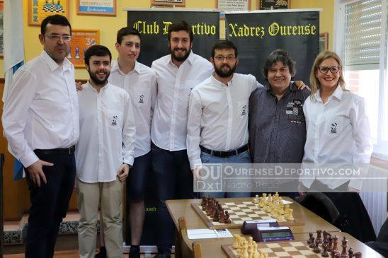 Xadrez Ourense, capitaneado por Iván Salgado, sitúase segundo na División de Honra